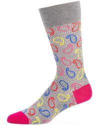 Bugatchi - Men's Paisley Cotton-blend Socks - Lyst