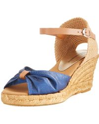 Neiman Marcus - Tirana Metallic Leather Espadrille - Lyst