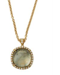 Marco Bicego - Jaipur 18k Gold Green Amethyst & Diamond Pendant Necklace - Lyst