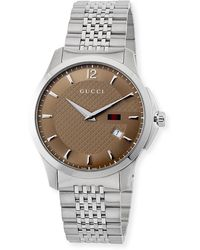 fc124272174 Lyst - Gucci Ya126317 G-timeless Slim Collection Stainless Steel ...