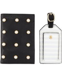 Neiman Marcus - Pearly Passport And Luggage Tag Set - Lyst