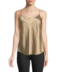 Vince - Satin Scalloped Camisole Top - Lyst
