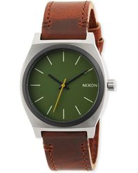 Nixon - 37mm Time Teller Leather Watch - Lyst