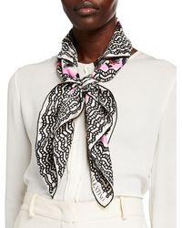 Valentino Foulard Printed Cashmere-silk Scarf - White
