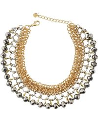 Nakamol - Multilink & Crystal Choker Necklace - Lyst