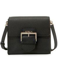 c91c2b4826 Furla Ginevra Medium Leather Hobo Bag in Gray - Lyst