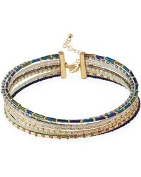 Fragments - Nine-row Seed Bead Choker Necklace - Lyst