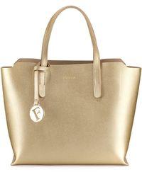 Furla | Sally Small Saffiano Tote Bag | Lyst