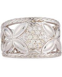 John Hardy - Kawung Floral Diamond Ring - Lyst
