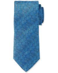 Duchamp - Swirl Pattern Silk Tie - Lyst