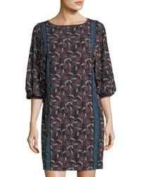 Max Studio - Matte Printed Jersey Dress - Lyst