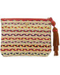 Sam Edelman - Mirabel Multicolor Woven Clutch Bag - Lyst