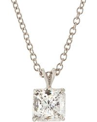 Fantasia by Deserio - Princess-cut Cz Pendant Necklace - Lyst