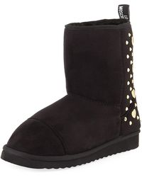 Love Moschino - Studded Suede Ankle Boots - Lyst