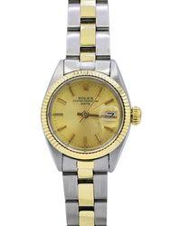 Rolex - Pre-owned 26mm 18k Gold Date Bracelet Watch - Lyst