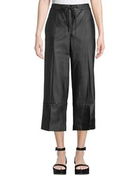Laundry by Shelli Segal - Faux-leather Culottes Pants - Lyst