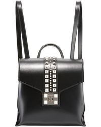 Valentino By Mario Valentino - Olivier Soave Leather Backpack - Silvertone Hardware - Lyst