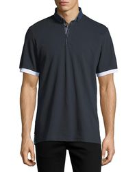 Maceoo - Button-down Contrast-trim Polo Shirt - Lyst