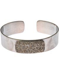 Bavna - Diamond Pave Bangle Bracelet - Lyst