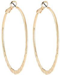 Lydell NYC - Hammered Hoop Earrings - Lyst