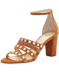 Jerome C. Rousseau - Abel Suede Studded High Sandal - Lyst