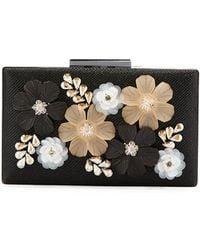 Neiman Marcus - 3-d Floral Evening Box Clutch Bag - Lyst