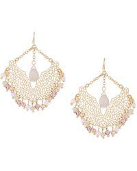 Fragments - Crystal Filigree Statement Earrings - Lyst