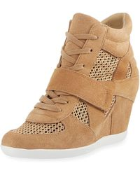 Ash - Bowie Mixed Mesh Wedge Sneaker - Lyst