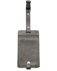 Neiman Marcus - Metallic Snake-embossed Luggage Tag Bronze - Lyst