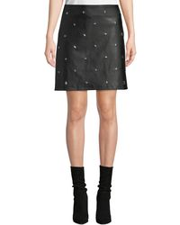 Philosophy - Star Studded Faux-leather Mini Skirt - Lyst