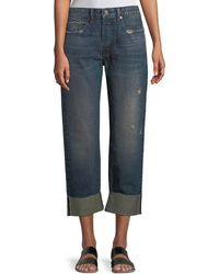 Vince - Cuffed Union Slouch Jeans - Lyst
