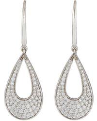 Roberto Coin - Classic 18k White Gold Diamond Teardrop Earrings - Lyst