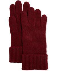 Portolano - Cashmere Jersey Gloves W/ Ribbed Cuffs - Lyst