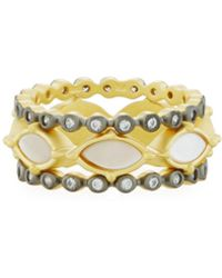 Freida Rothman - Iridescent Marquise & Crystal Stacking Rings - Lyst