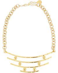 Devon Leigh - Bullet & Bar Pendant Necklace - Lyst