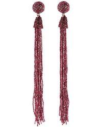 Panacea - Seed Bead Tassel Duster Earrings - Lyst