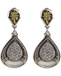 Konstantino - Asteri Pave White Diamond & Mother-of-pearl Double-drop Earrings - Lyst