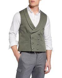 Brunello Cucinelli - Men's Cotton-blend Waistcoat Vest - Lyst