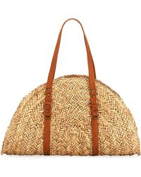 San Diego Hat Company | Woven Straw Moon-shape Bag | Lyst