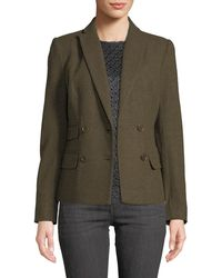 Leon Max - Double-breasted Wool Blazer Jacket - Lyst