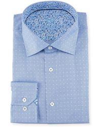 Bugatchi - Dotted Dress Shirt - Lyst