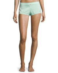 Underella By Ella Moss - Lace-inset Lounge Shorts - Lyst