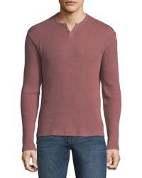 Joe's Jeans - Waffle-knit Long-sleeve Henley - Lyst