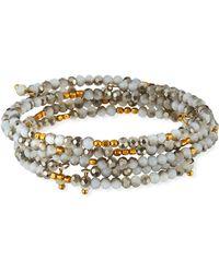 Panacea - Silvertone Crystal Bracelets Set Of 4 - Lyst