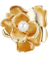 Kenneth Jay Lane - Pearly Flower Pin - Lyst