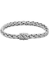 John Hardy - Classic Chain Small Silver Braided Bracelet - Lyst