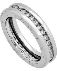 BVLGARI - Estate 18k White Gold B.zero1 Diamond Ring Size 5.25 - Lyst