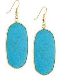 Panacea - Elongated Stone Drop Earrings - Lyst