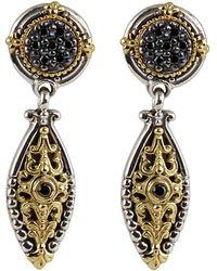 Konstantino - Asteri Pave Black Diamond Dangle Earrings - Lyst