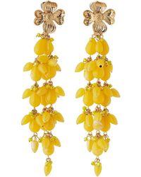 Lydell NYC - Linear Flower Drop Earrings - Lyst